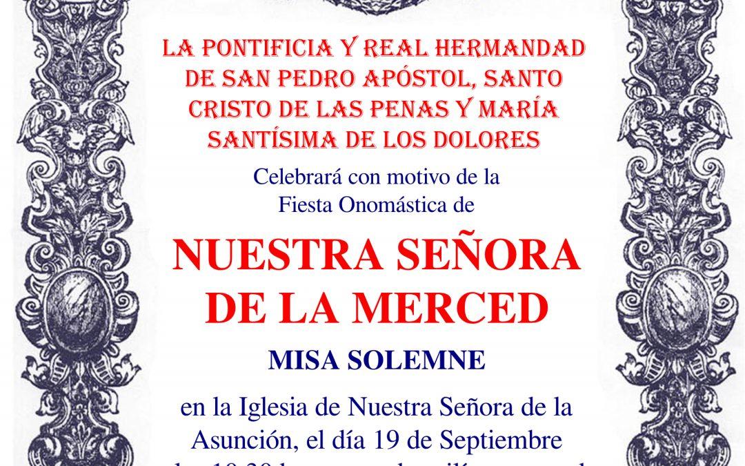 Solemne Misa – Onomástica de Ntra. Sra. de la Merced